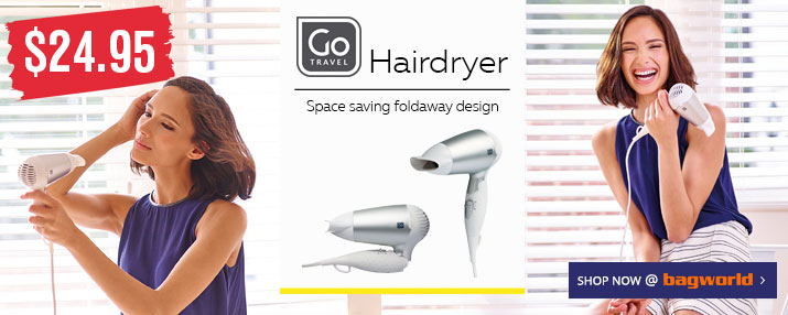 Go Travel Hair Dryer @ Bagworld