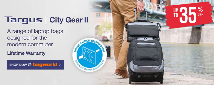 Targus City Gear II Laptop & Tablet Bags @ Bagworld
