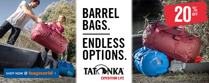Tatonka Barrel Bags @ Bagworld